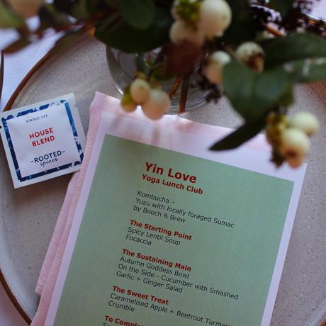 Yin Love yoga lunch