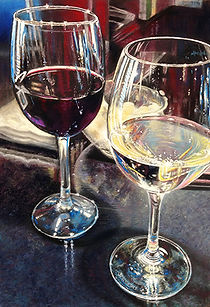 Wine Glasses Pastel