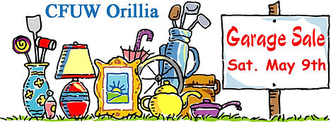 CFUW Orillia Garage Sale_Sat May 9 2020.