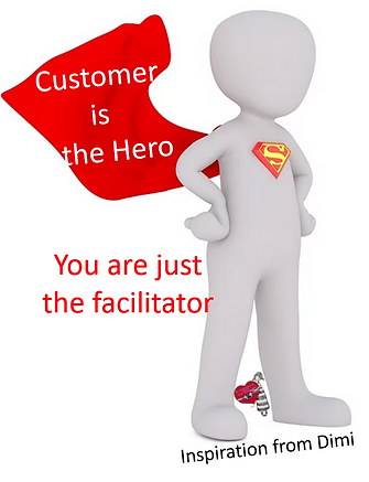 Customer is the hero