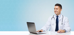 medicine, profession, technology and peo