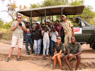 "Field Assistants Christin and Ronnie participate in ""Wild Shots"" outreach"