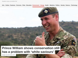 "The Conversation piece on conservation's ""white saviour"" problem"