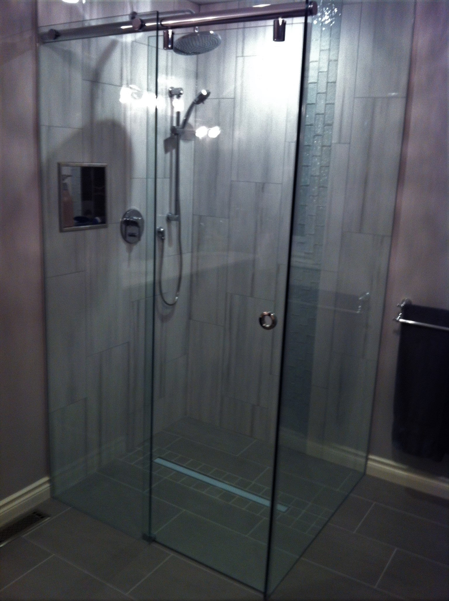 Rectangle glass shower