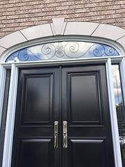 Irregular shape glass repair