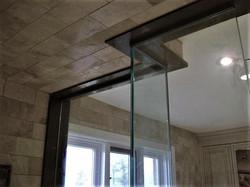 Irregular glass shower