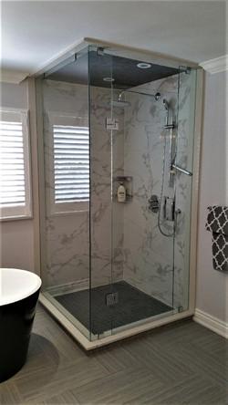 Rectangle glass shower enclosure
