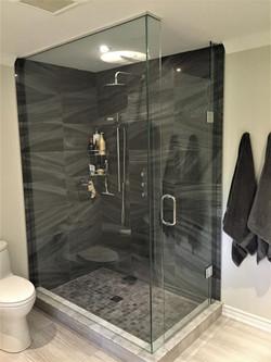 Rectangle glass shower