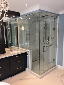 Rectangle 5 pc steam glass shower
