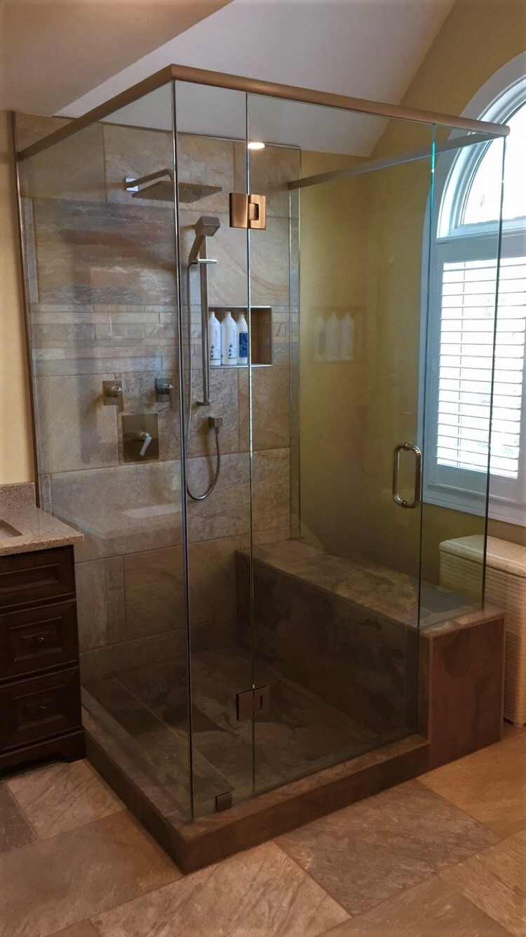 Rectange glass shower
