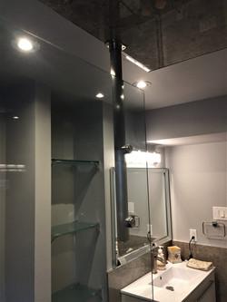 Shield glass shower