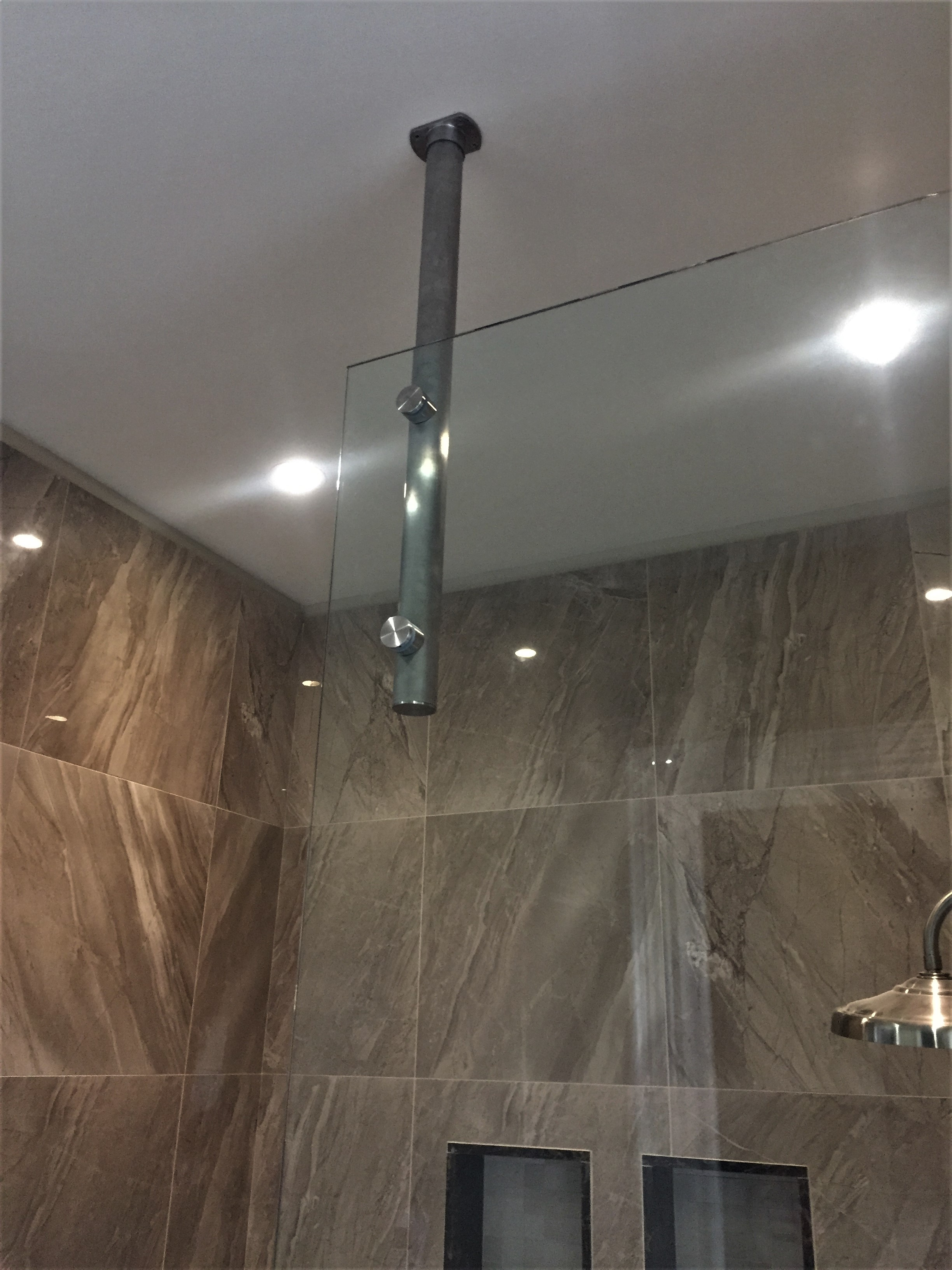 Shield glass shower