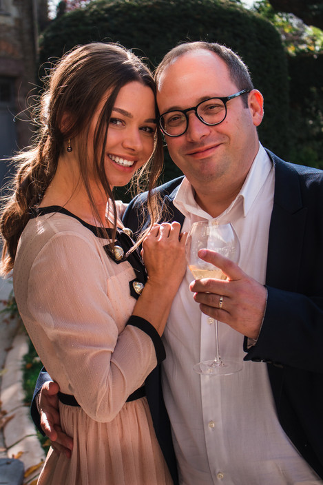 Newly married couple, Laval, France