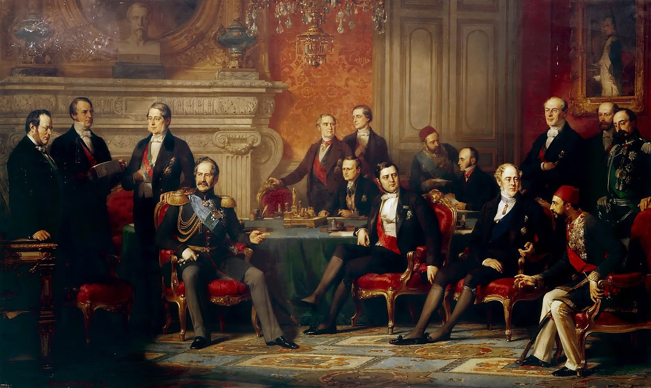 Congress of Paris in 1856, by Edouard Lo
