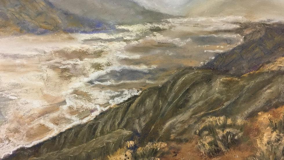 landscape painting, Dante's View, Death Valley, CA