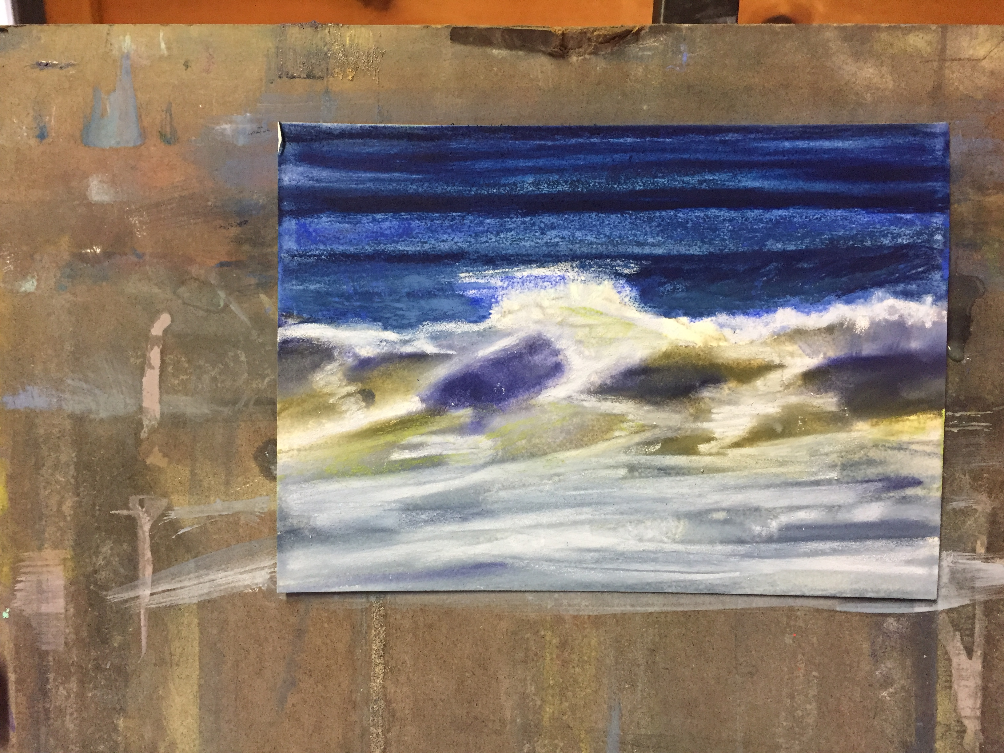 Underpainting for little wave
