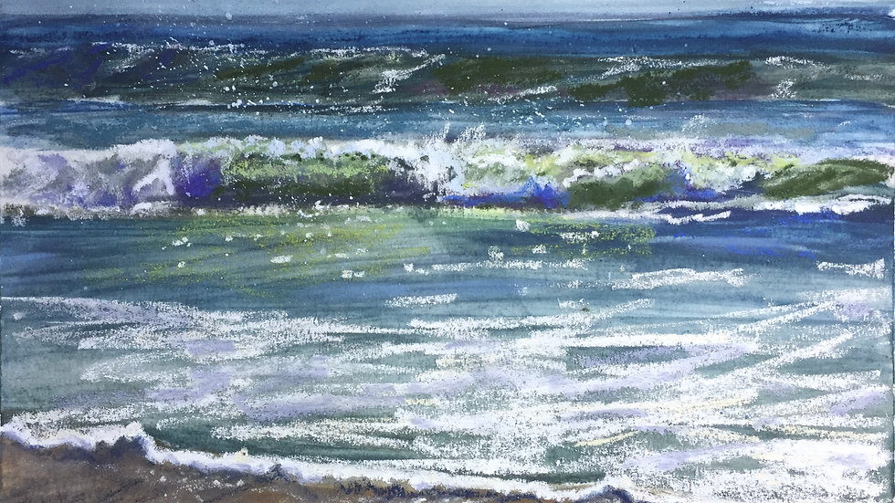 beach painting, seascape, Narragansett, RI