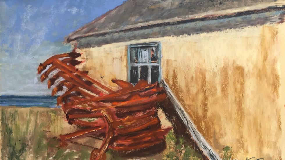 anchors, landscape painting, Rhode Island