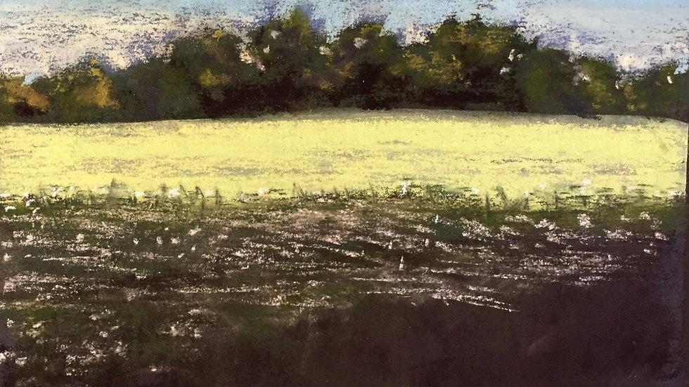 landscape painting, Smith's Berry Farm RI