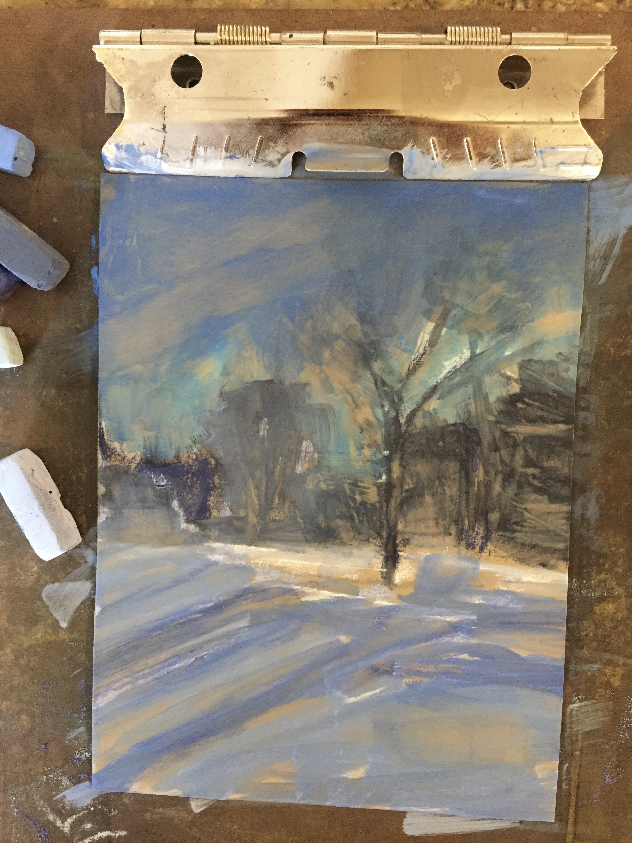 Underpainting for color study