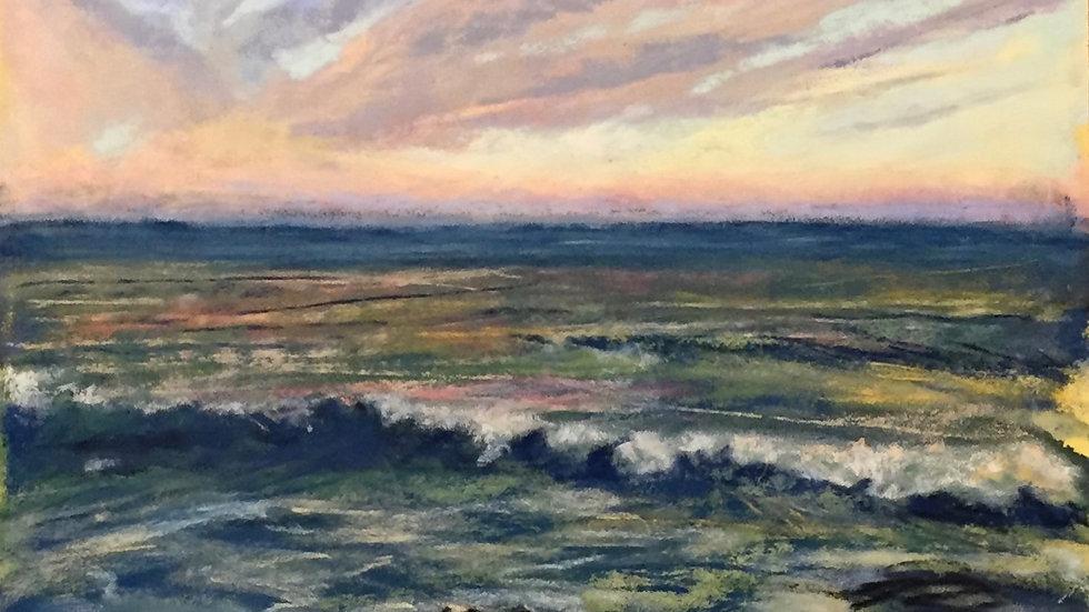 sunset seascape, Narragansett, Ri, Ocean Road
