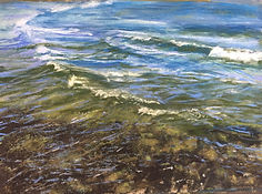 paintings of waves and beaches