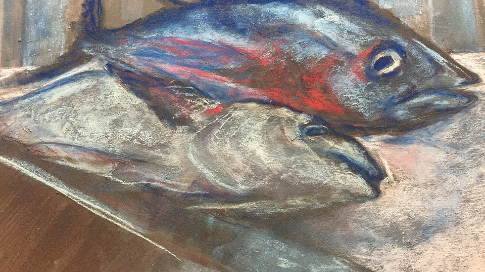 fish market painting, Mexico City