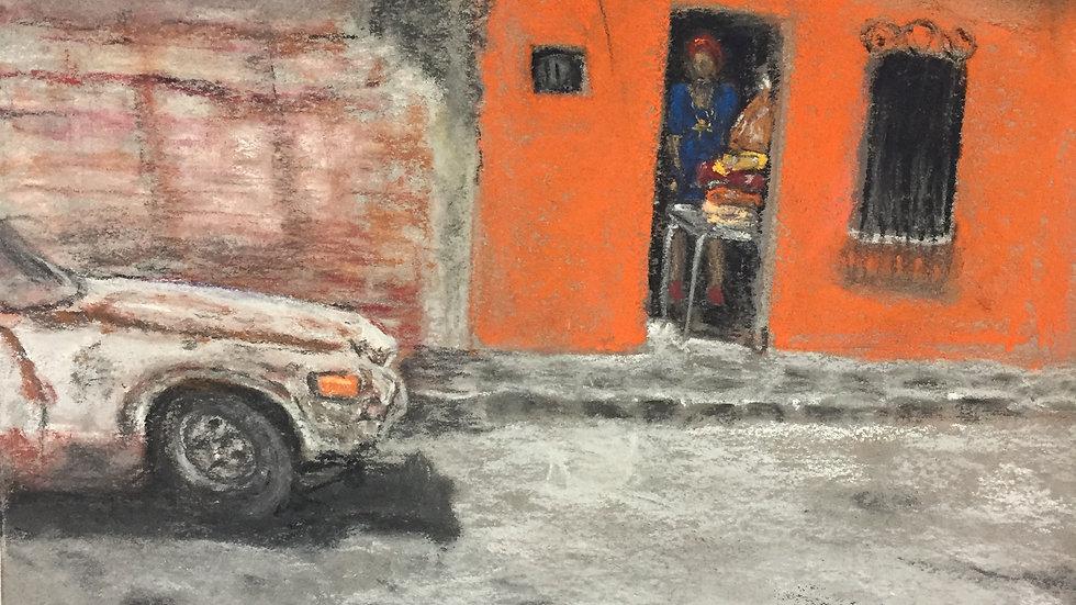 cityscape painting, San Miguel de Allende, Mexico
