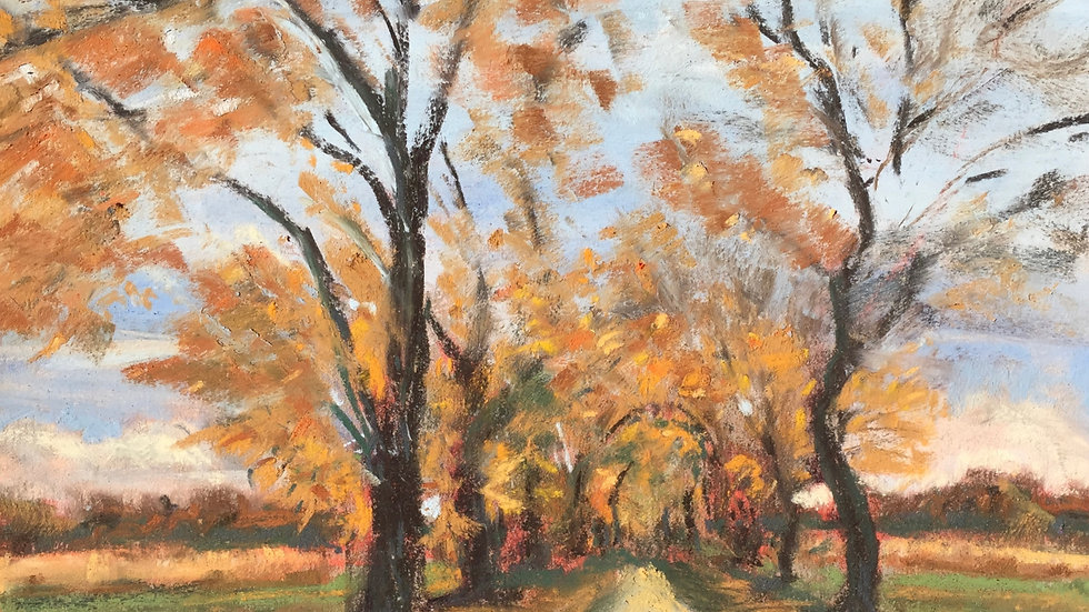 farm landscape painting, Exeter, RI