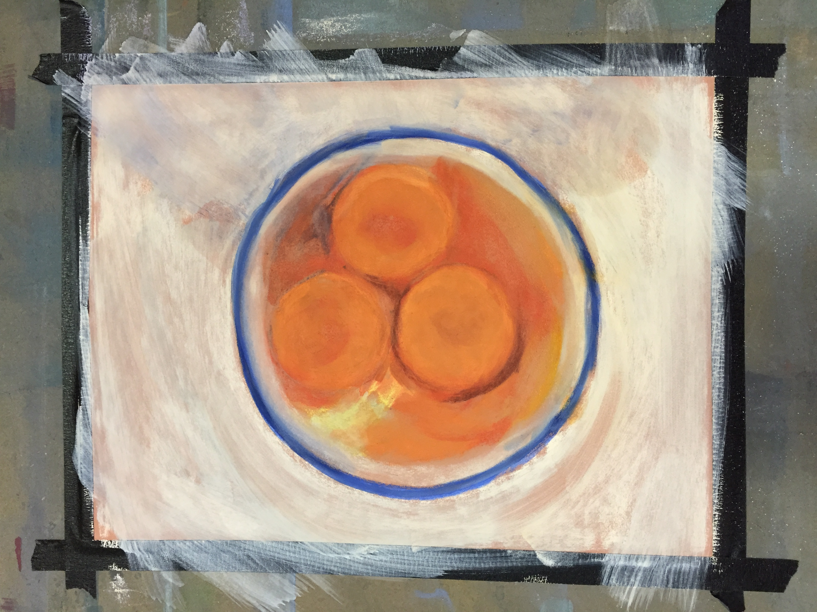 "Underpainting for ""Three Eggs"""