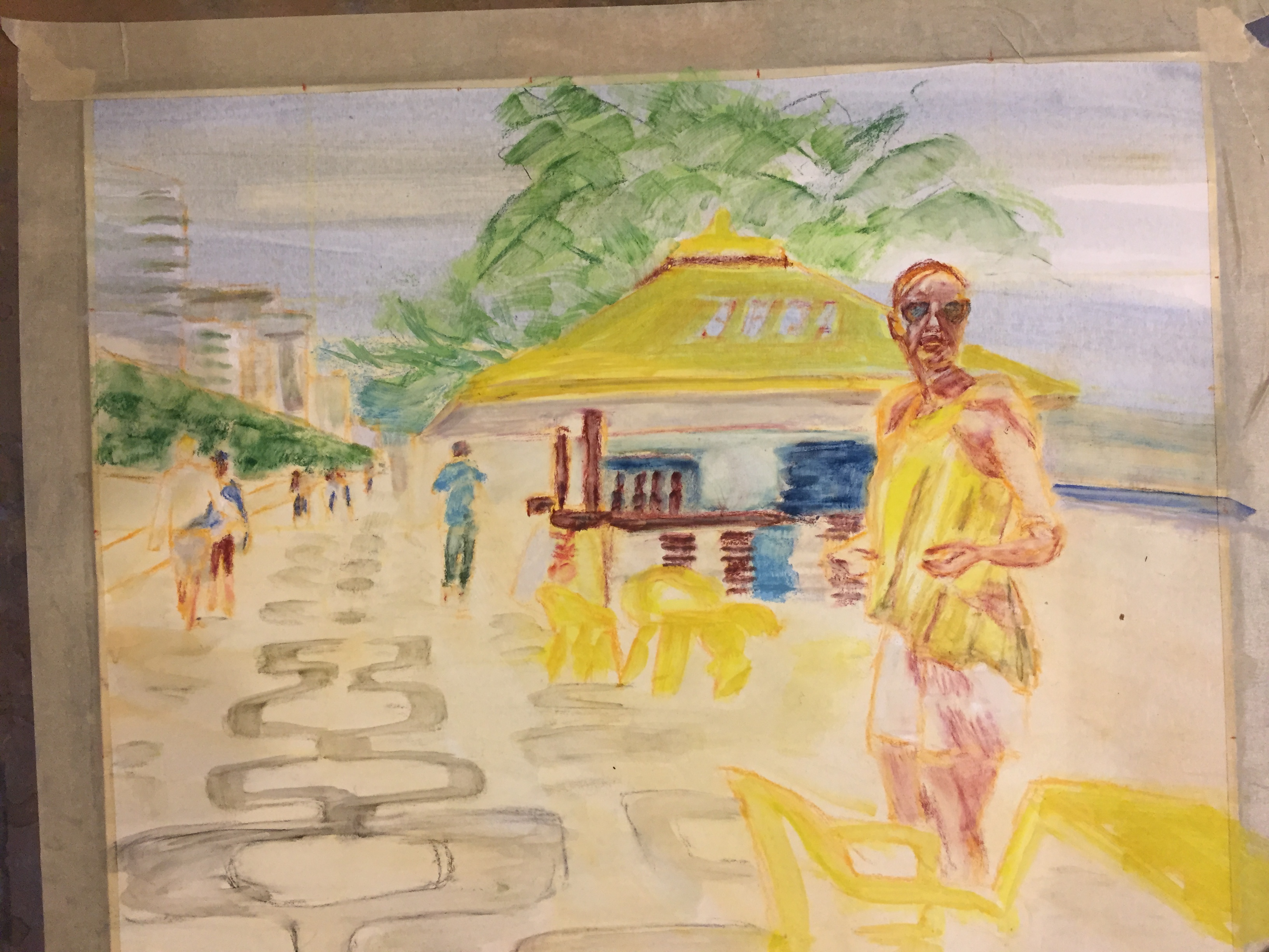 "Underpainting. ""Rendezvous in Rio"""
