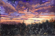 """""""Just Another Tucson Sunset,"""" 6x9, 2017_"""