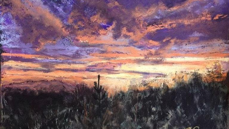 sunset, UArt Black, Terry Ludwig, Tucson Catalinas