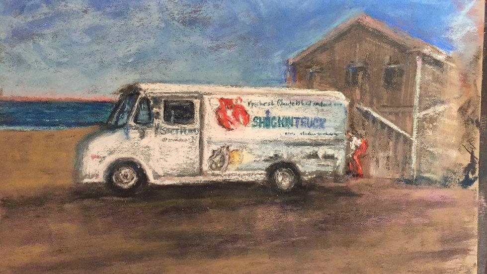 food truck, oysters, scallops, Rhode Island