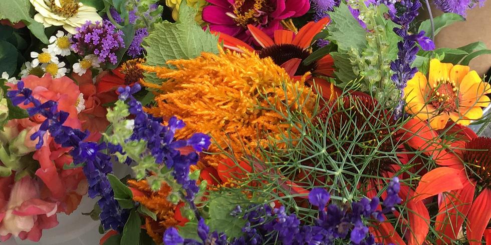 Farm Garden Bouquet Making