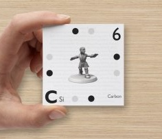 super elements carbon playing card