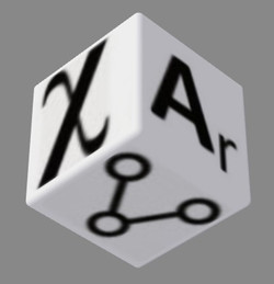 super elements dice white