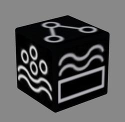 super elements dice black