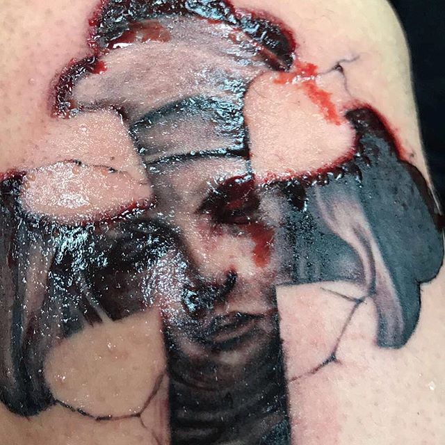 Cool shot of the Virgin Mary I did #tatsoul#eternalink_bishoprotary#tattoo#tattoos#tattooartist#hous