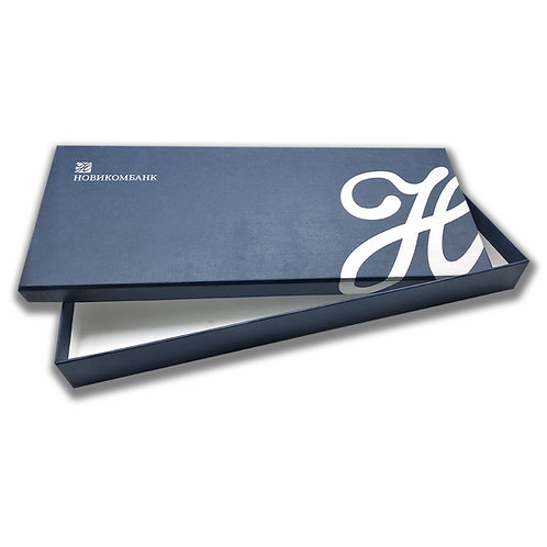 Подарочная коробка для планинга , жесткая кашированная, 376х145х35 мм