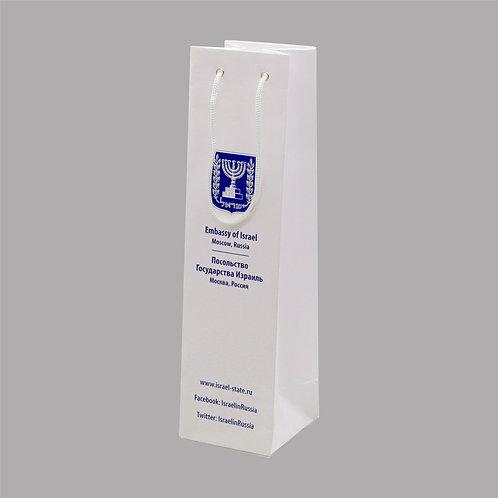 Пакет бумажный винный, 100*380*100 мм