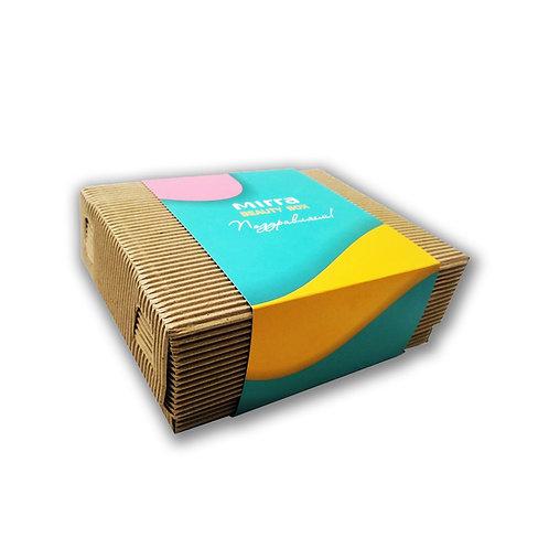 ЭКО-коробка с подарочным шубером, 180х140х65 мм