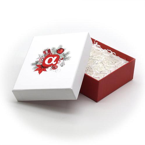 Подарочная коробка малая, жесткая кашированная, 110х140х50 мм