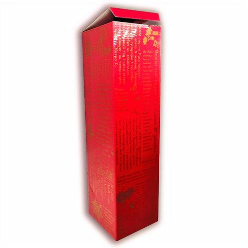 Подарочная коробка для бутылки игристого вина, кашированная, 110х110х400 мм