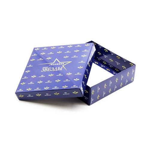 Подарочная коробка квадратная,  самосборная, 150х150х50 мм