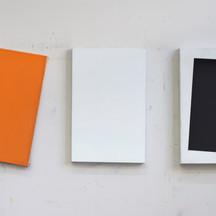 triptiek (oranje zwart)