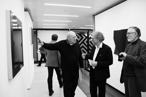 exhibition Painting Black (left: Don Voisin)