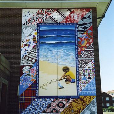 Bondi Peace mural, NSW, 1986. Restored 2000