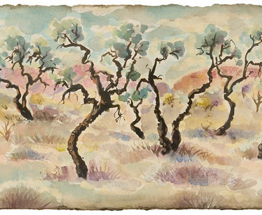 Stand of Corkwood Trees on the Plain