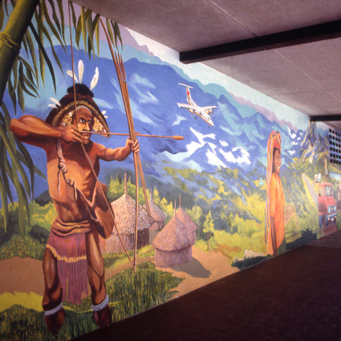 University of PNG Multi Mural Project 1984